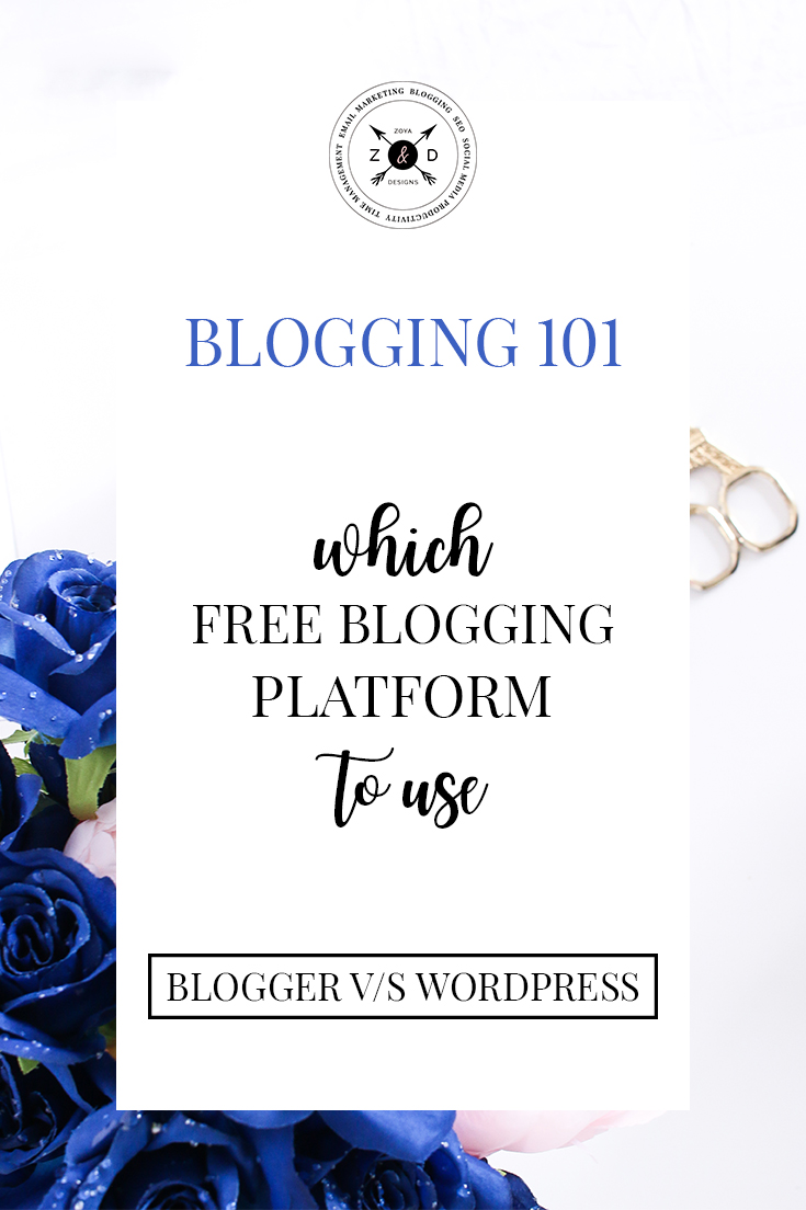 which free blogging platform to choose blogger or wordpress