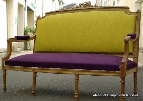 atelier et comptoir du tapissier banquette louis xvi. Black Bedroom Furniture Sets. Home Design Ideas