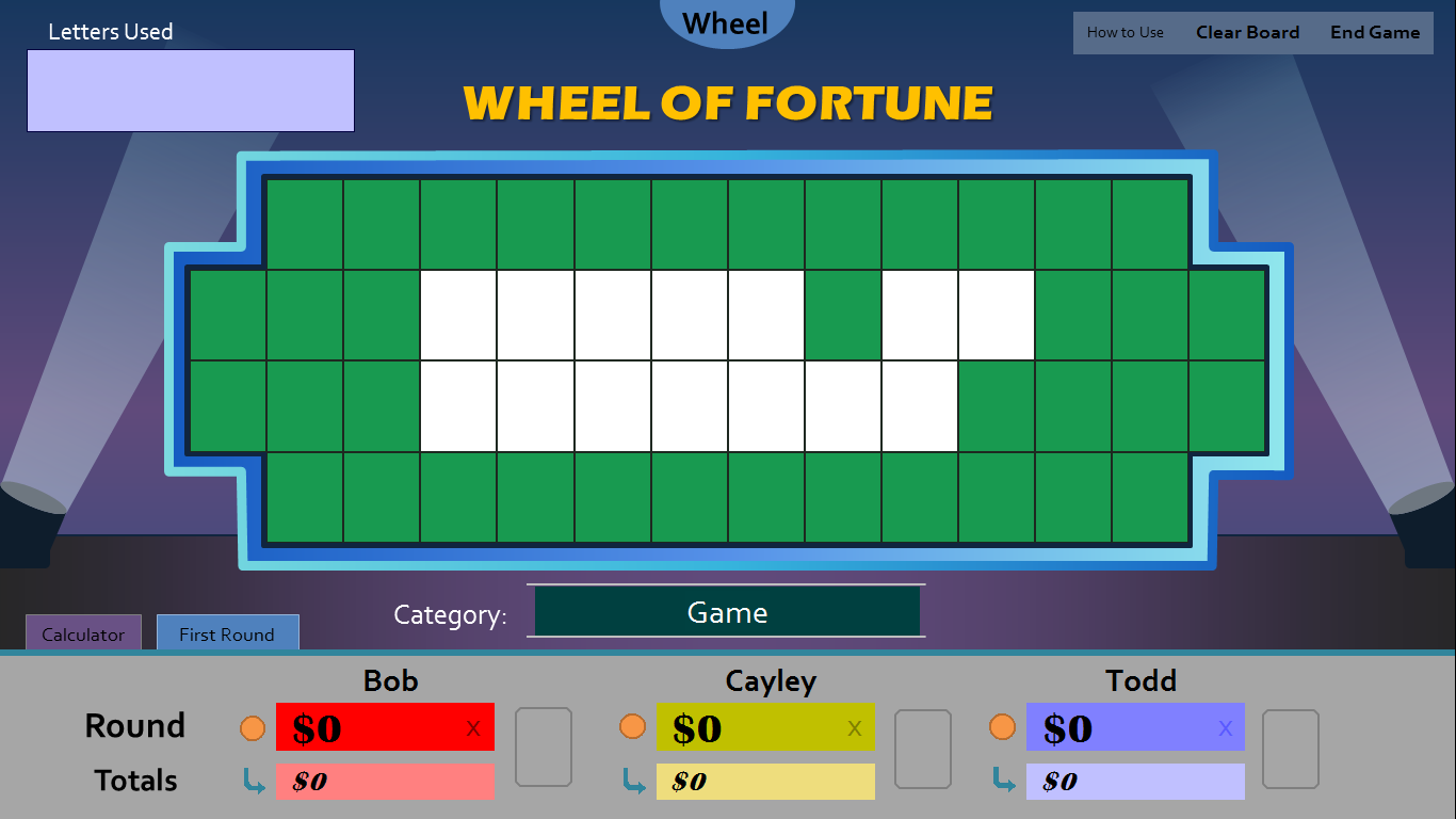 Wheel of fortune for powerpoint version 3 0 has arrived for Wheel of fortune game template for powerpoint