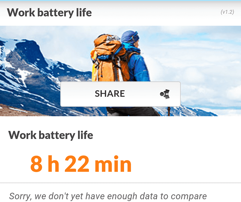 Work battery life test