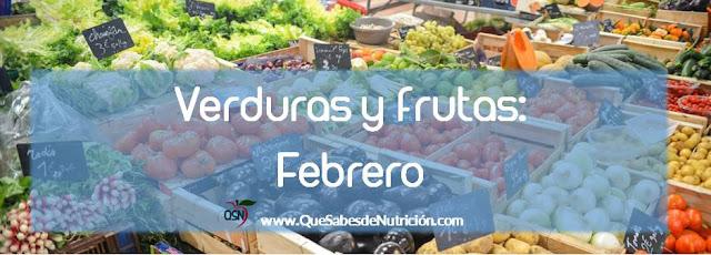 QSN: Verduras y fruta de febrero