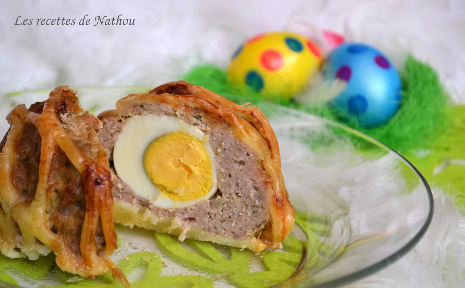 Ma cuisine au fil de mes id es pain de viande surprise pour p ques - Recette entree paques ...