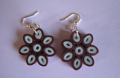 Flower earrings designs for kids and girls - quillingpaperdesigns