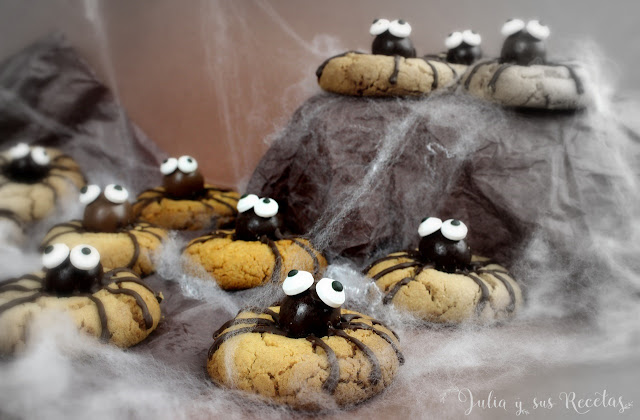 Galletas araña para halloween. Julia y sus recetas