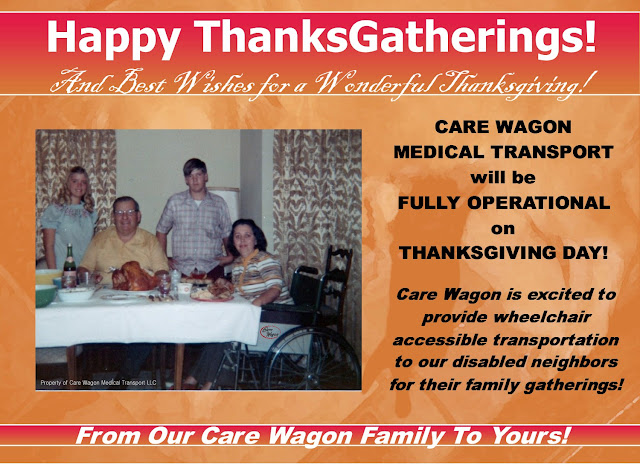 Happy ThanksGatherings From Care Wagon Medical Transport!