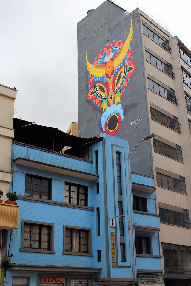 Graffiti in the Historical centre of Bogota, Colombia