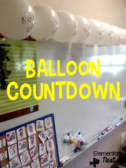 end of the year balloon pop countdown- free ideas to get your behavior management perfected at the end of the year
