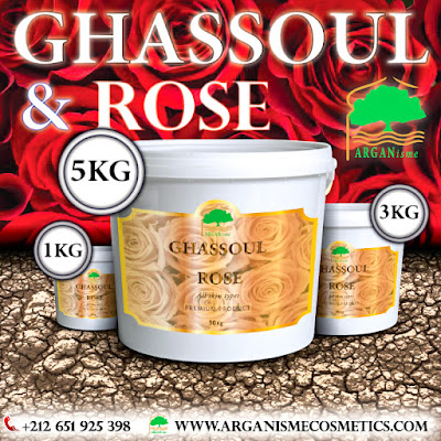 GHASSOUL CLAY WITH ROSE BULK WHOLESALE