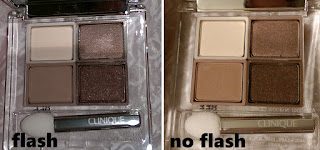 All About Shadow Quad hazy, teddy bear, morning java, nude rose eyeshadows flash swatch review