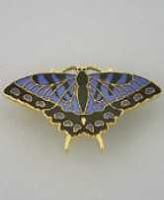 blue swallowtail butterfly pin brooch