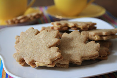 Luscious maple cream filled maple sandwich cookies