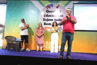 """Palestrante Erik Penna abordou """"Motivação e excelência  nos resultados"""" em palestra aos educadores da ilha"""