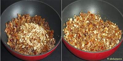 add roasted badam and kaju