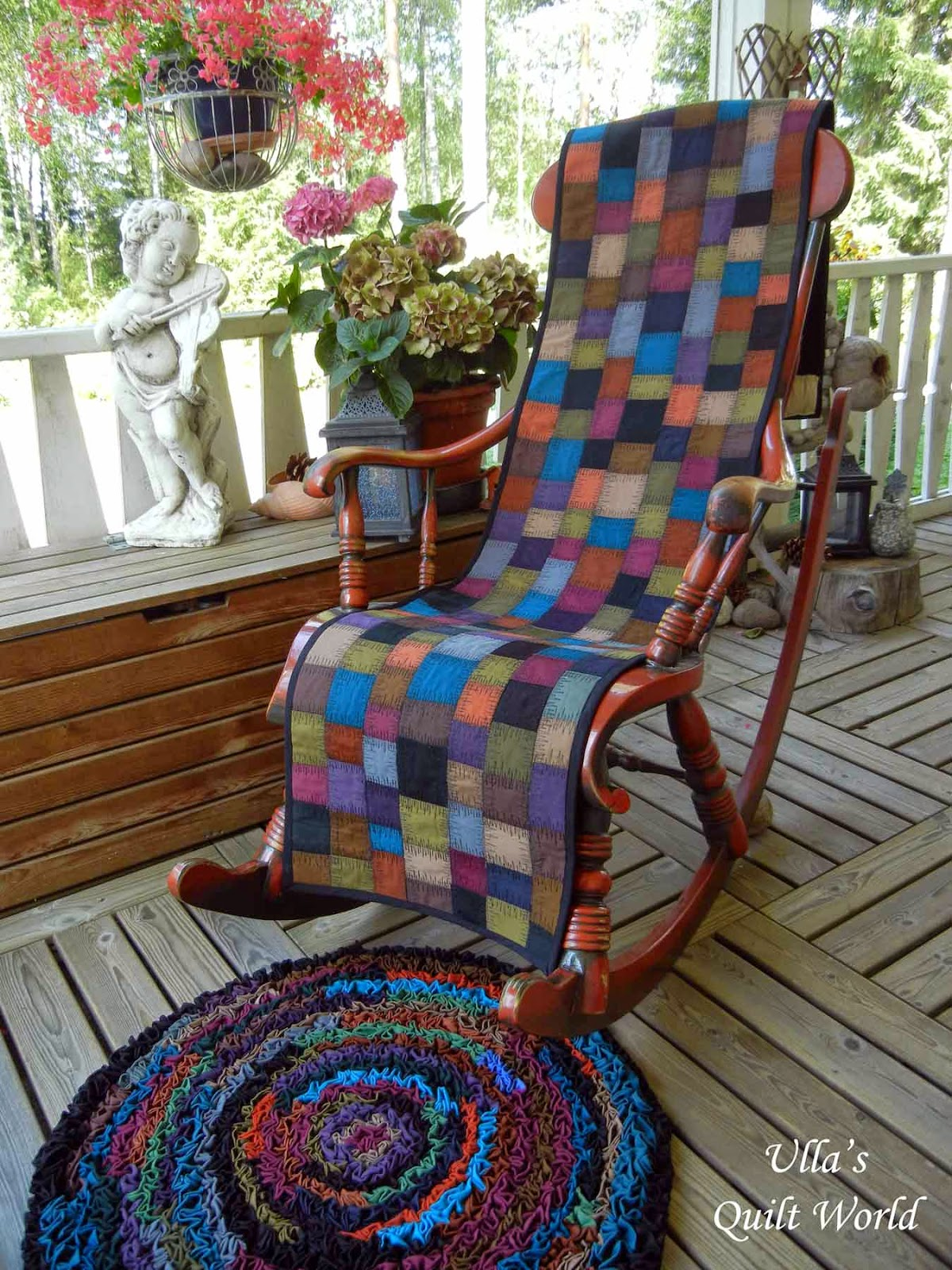 Rocking Chair Covers Ulla S Quilt World Rocking Chair Cover And A Rug Tutorial Quilting