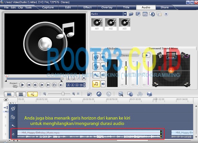 editing audio dengan ulead 6