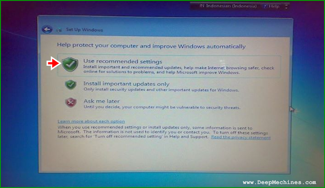 Panduan Instalasi Windows 7 - Notifikasi Updated