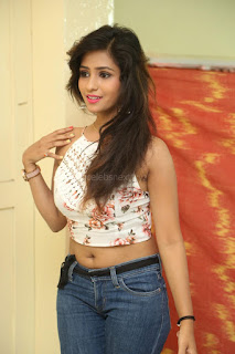 Deekshita Parvathi in a short crop top and Denim Jeans Spicy Pics Beautiful Actress Deekshita Parvathi January 2017 CelebxNext (39).JPG