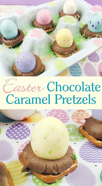 Easter Chocolate Caramel Pretzels recipe