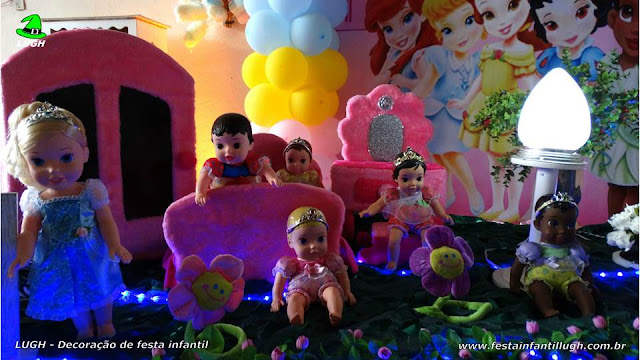 Mesa temática de aniversário Princesas Baby Disney