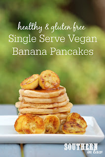 Single Serve Vegan Banana Pancakes Recipe