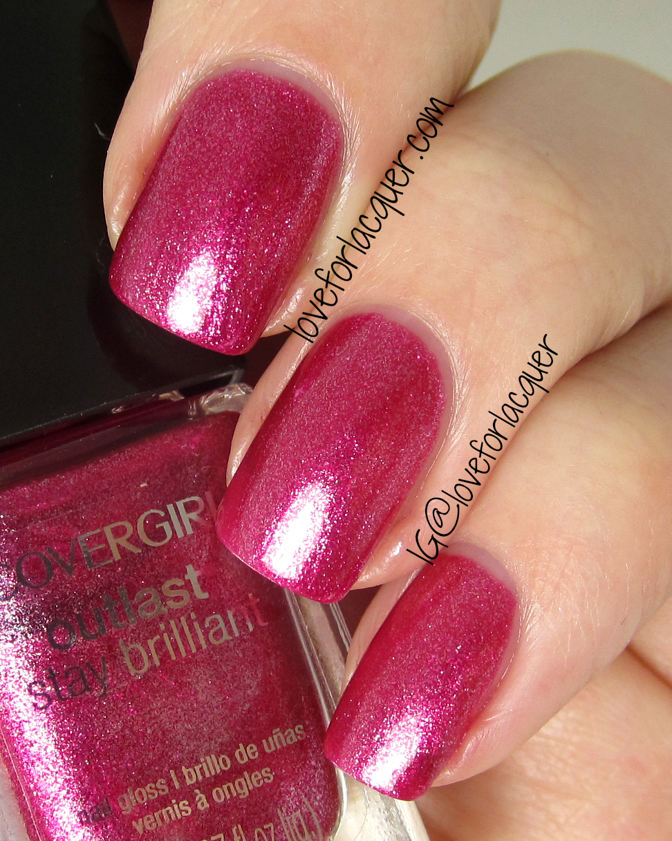 Covergirl Outlast Stay Brilliant Nail Gloss Bombshell Swatches Amp Review Love For Lacquer