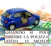 recedere dal contratto di assicurazione auto o moto