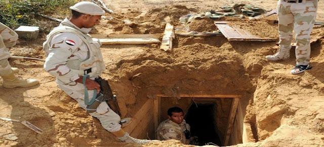 الجيش المصري.. حشيش وأسلحة نفق خرساني للتهريب بسيناء