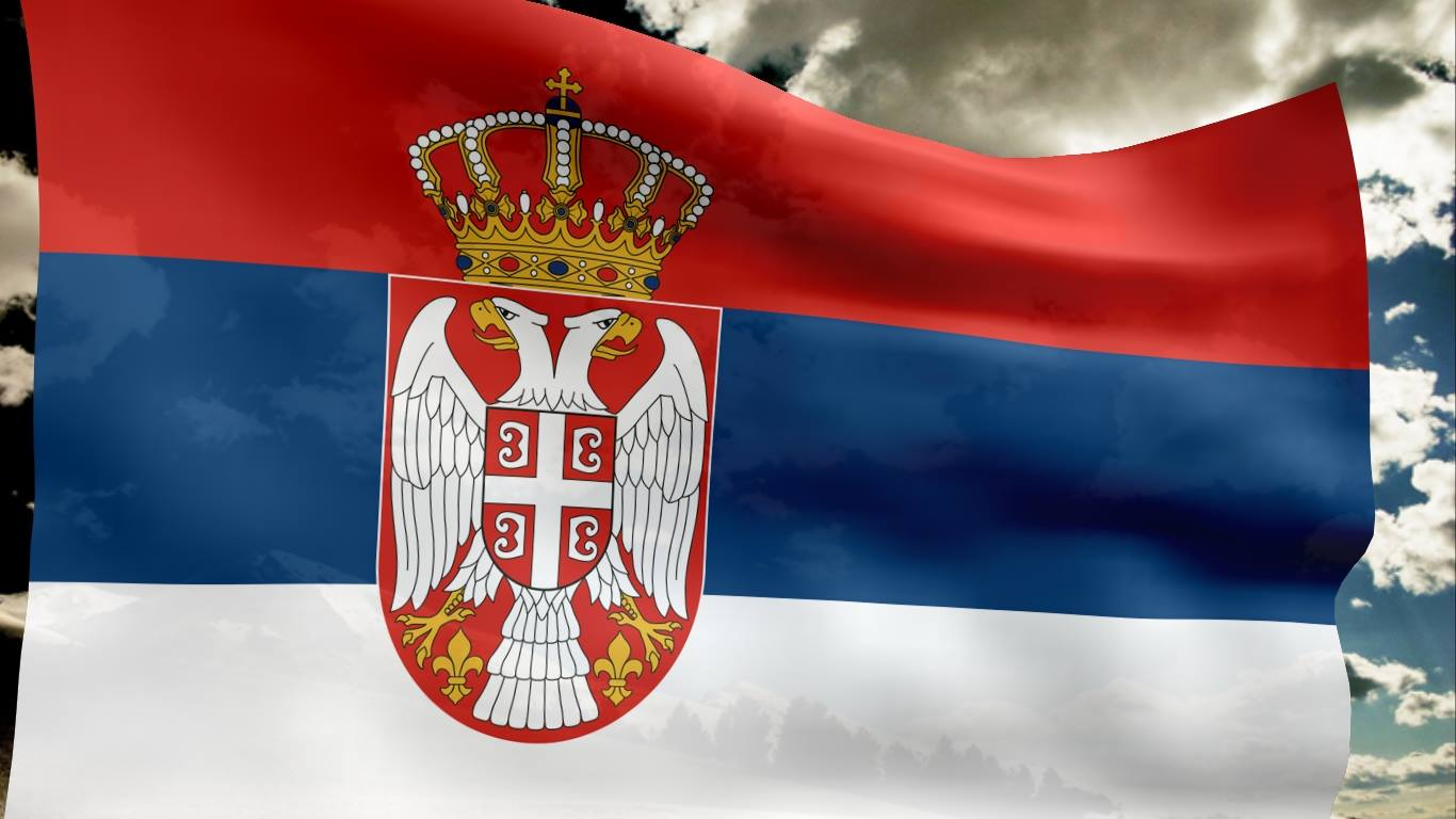 klampnew: Η σημαία της Σερβίας και ο δικέφαλος αετός
