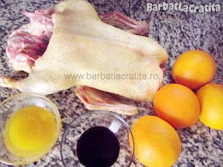 Rata la cuptor cu portocale - toate ingredientele necesare prepararii retetei