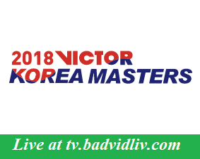 Korea Masters 2018 live streaming