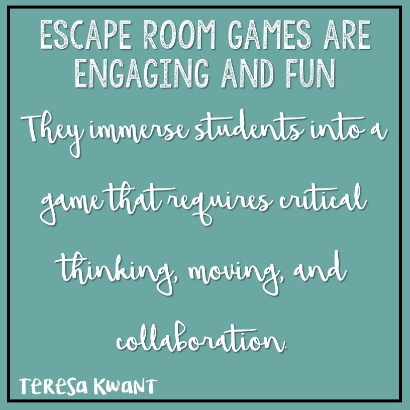 Math Escape Room Clues