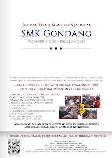 Brosur PPDB TKJ SMK Gondang Pekalongan 2016