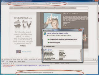Crashed VLC media player , operamini , Chrome , Firefox , Excel .