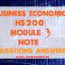 Business Economics [HS200] Note-Module 3
