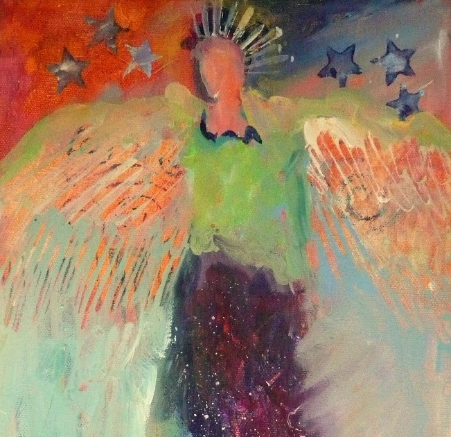 """Nancy Standlee Fine Art: Contemporary Figurative Acrylic Painting ~ """"Lady  Liberty - Lylas 2"""" ~ by Texas Daily Painter Nancy Standlee"""