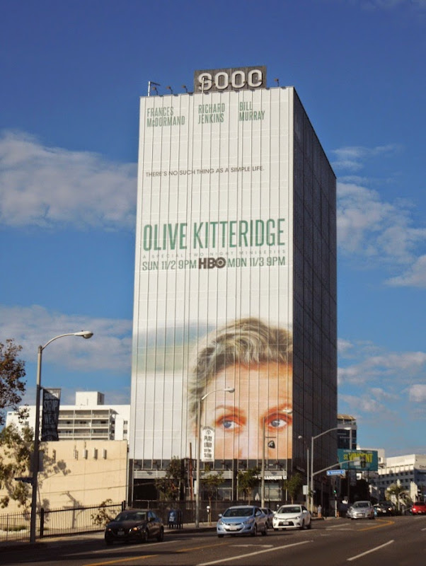 Giant Olive Kitteridge billboard