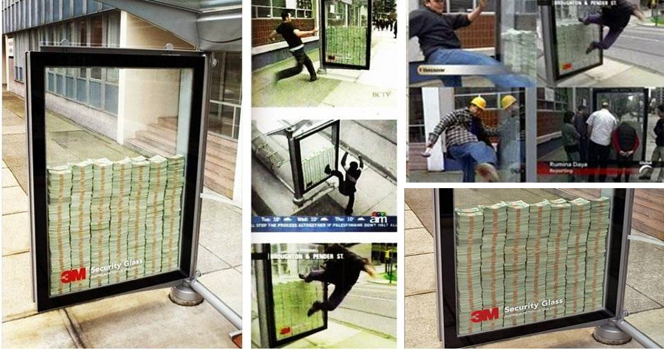 M Bulletproof Glass Money