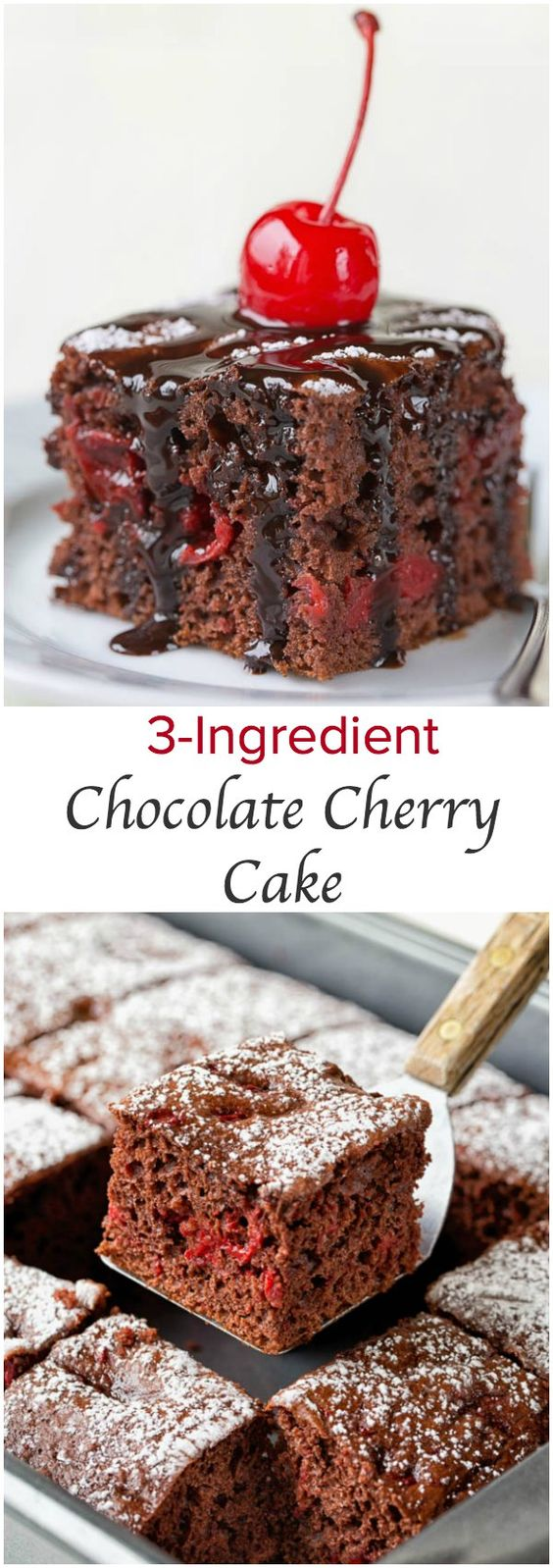 3-Ingredient Chocolate Cherry Cake