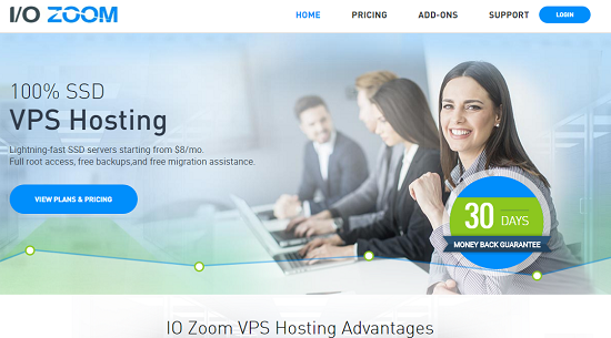 IO Zoom Review, SSD VPS Hosting, 100% Uptime VPS Hosting