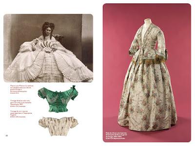 La comtesse Virginie de Castiglione, corsages et robe de ville