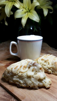 White Chocolate and Walnut Scones