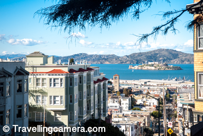This street of San Francisco has been a major tourist attraction, receiving around 2 million visitors per year and up to 17,000 per day on busy summer weekends, as of 2015. The famous trolley line crosses through this block and many folks come here through cable car.