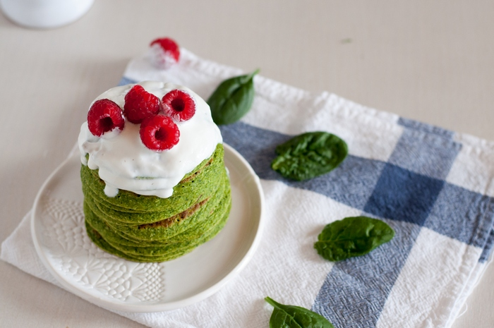Panquecas verdes | Spinach pancakes
