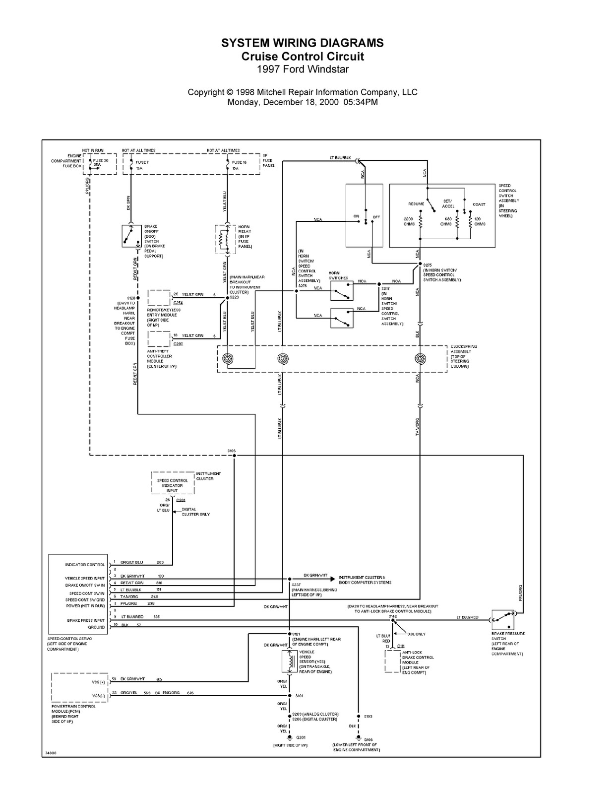 1996 windstar ac wire diagram ac wire diagram 8335b671 1997 ford windstar complete system wiring diagrams ...