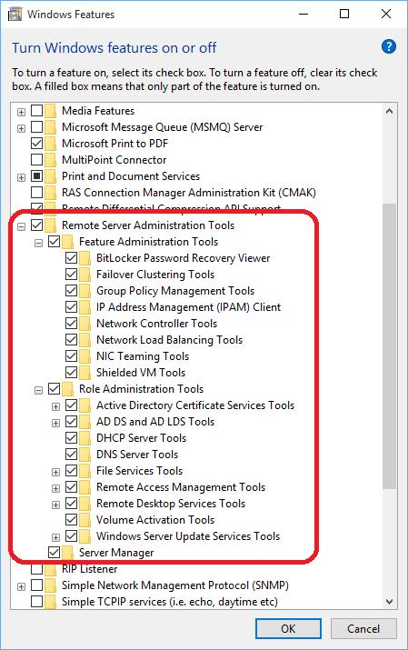 Windows 10 RSAT - Windows 10 - www windows-noob com