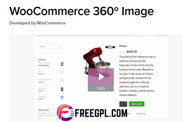 WooCommerce 360 Image Free Download