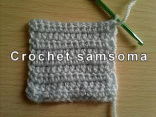 تعليم الكروشيه للمبتدئين الدرس الخامس :عمل غرزة النصف عمود .   half double crochet stitch