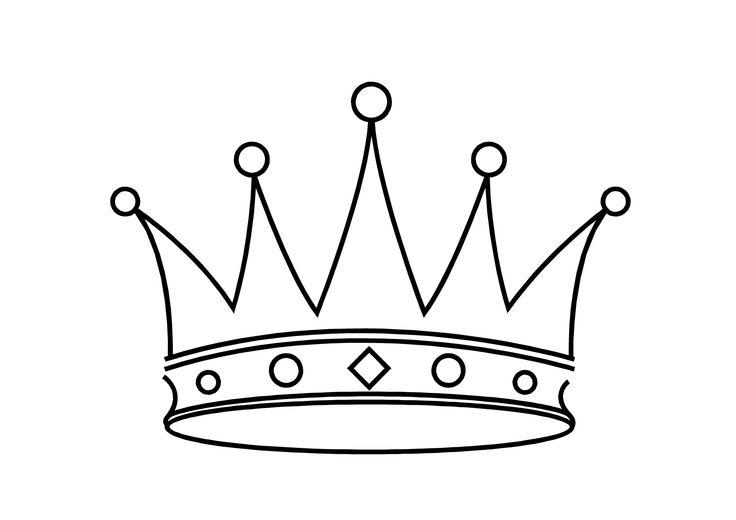 Dessins et coloriages page de coloriage grand format imprimer une couronne de reine luxueuse - Coloriage couronne ...