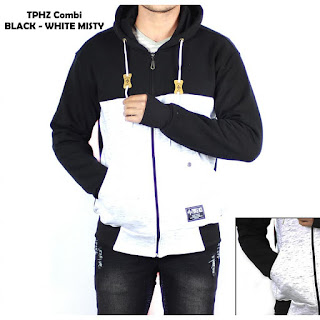 JAKET FLEECE PRIA TPHZ COMBI BLACK - WHITE MISTY
