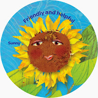 Sunny the Sunflower (Yellow), Friendly & Helpful Petal
